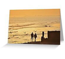 Low Tide Sunset - Hove #6 Greeting Card