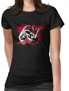 Feisty Fish Red and Black Womens Fitted T-Shirt
