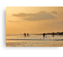 Low Tide Sunset - Hove #8 Canvas Print