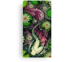 Filigree Fins -Purple Canvas Print