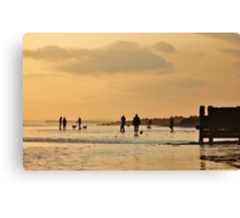 Low Tide Sunset - Hove #9 Canvas Print