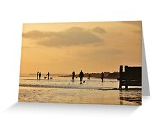 Low Tide Sunset - Hove #9 Greeting Card