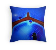 Waiting Room at the Edge of the Universe Throw Pillow