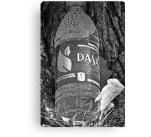 Water bottle in black & white Canvas Print
