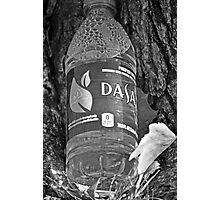 Water bottle in black & white Photographic Print