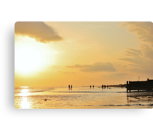 Low Tide Sunset - Hove #13 Canvas Print