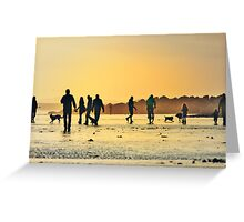 Low Tide Sunset - Hove #16 Greeting Card