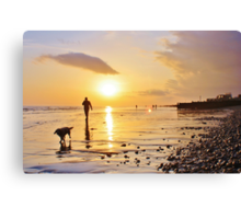 Low Tide Sunset - Hove #20 Canvas Print