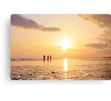 Low Tide Sunset - Hove #21 Canvas Print
