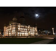 The Liver Building bathed in Moon light Photographic Print