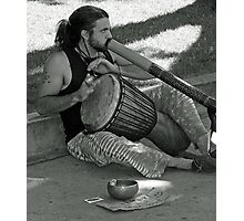 Beat of a different drummer - black & white Photographic Print