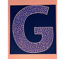 Letters of the alphabet  G Photographic Print