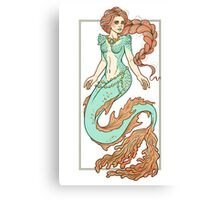 Coral Mermaid  Canvas Print