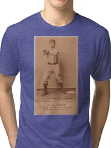 Benjamin K Edwards Collection Wally Andrews Omaha Team baseball card portrait Tri-blend T-Shirt