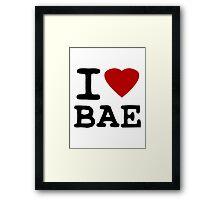I Heart (LOVE) Bae Framed Print