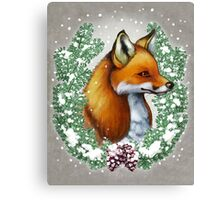 Snowy Fox Canvas Print