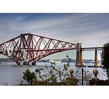 Liner under the Bridge Photographic Print