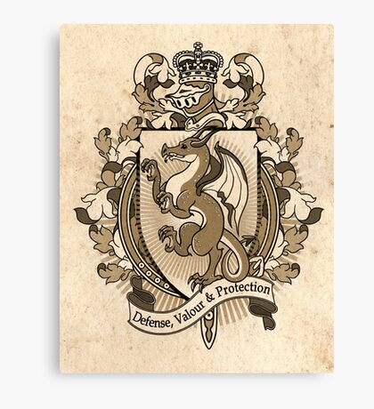 Dragon Coat Of Arms Heraldry Canvas Print