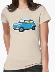 fiat 600 Womens Fitted T-Shirt