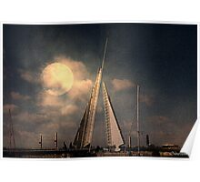 Moonlit Sails Poster