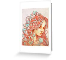 Filigree Face Greeting Card