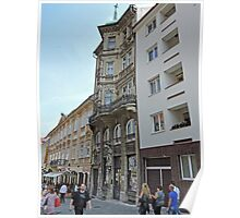 Old and new architecture, Bratislava, Slovakia Poster