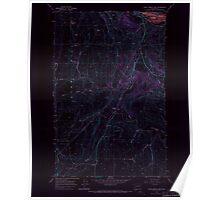 USGS Topo Map Washington State WA Chief Joseph Dam 240480 1968 24000 Inverted Poster