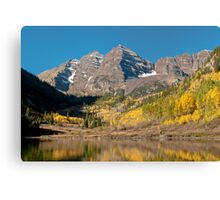 The Maroon Bells In Fall Dress Canvas Print
