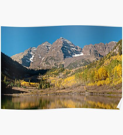 The Maroon Bells In Fall Dress Poster