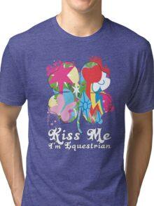 Kiss Me I'm Equestrian Tri-blend T-Shirt