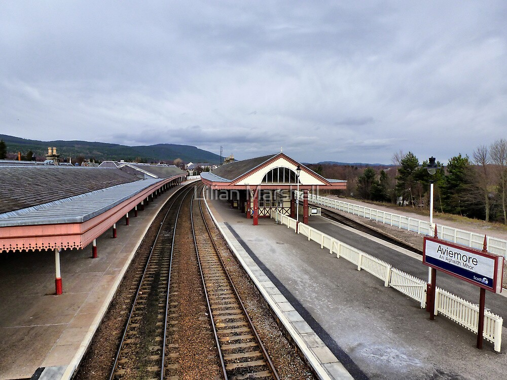 Aviemore Railway Station  by Lilian Marshall