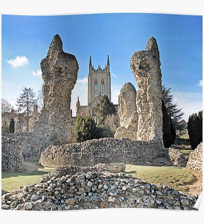 Bury St Edmunds Abbey Poster