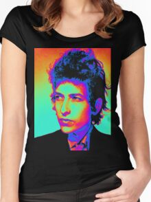 Bob Dylan Psychedelic Women's Fitted Scoop T-Shirt