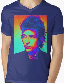 Bob Dylan Psychedelic Mens V-Neck T-Shirt
