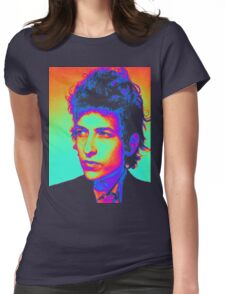 Bob Dylan Psychedelic Womens Fitted T-Shirt