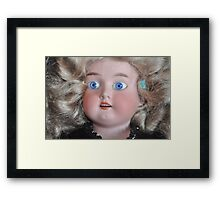 Cool Antique Doll photograph Framed Print