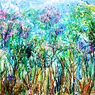 Advancing Spring, Acrylic on primed linen by Regina Valluzzi