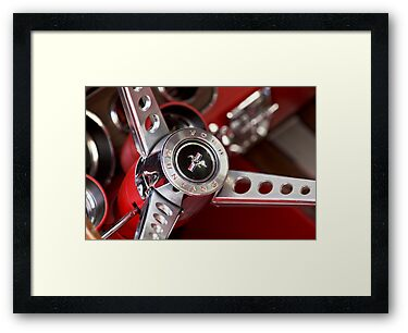 1969 Ford Mustang Mach 1 Steering Wheel by Jill Reger