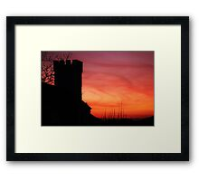 Pennard Church Sunset  Framed Print