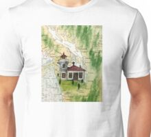 Mukilteo Lighthouse WA Nautical Chart Cathy Peek Unisex T-Shirt