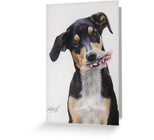 Max, Pastel Dog Portrait Greeting Card