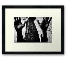 Dark hands Framed Print