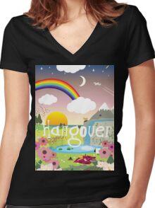 Hangover Women's Fitted V-Neck T-Shirt