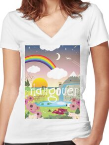 Hangover Women's Fitted V-Neck T-Shirt