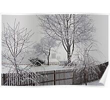 Winter At My Back Door Poster