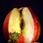 Strawberry with Apple on Cracker by John Walsh, IRELAND
