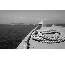 tenby boat rideaa Photographic Print