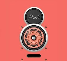 SPEAKER IPHONE CASE 4a ( Pink eddition ) by ALIANATOR