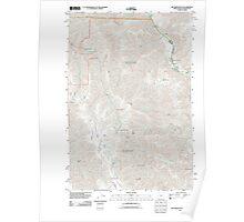 USGS Topo Map Oregon OR Jim Creek Butte 20110627 TM Poster