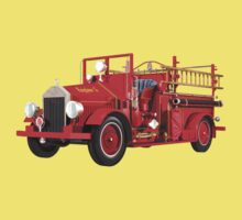 Antique Fire Engine Tee by Carol and Mike Werner